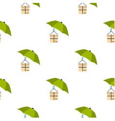Umbrella and box pattern flat vector