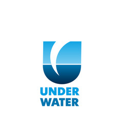 under water emblem vector image