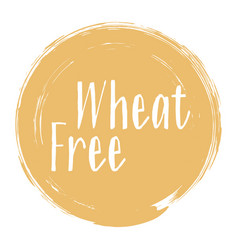 wheat free icon package label design vector image
