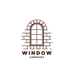 window logo design symbol temp vector image