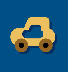 flat icon design collection toy car in sticker vector image