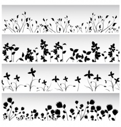 flowers and plants set vector image vector image