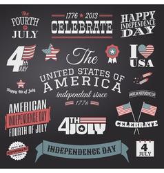 Independence Day Design Elements Set vector image vector image