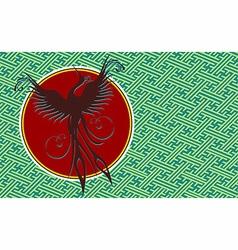 Phoenix bird background vector image