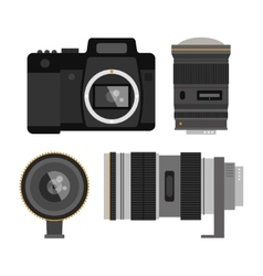 Photo optic lenses vector image vector image