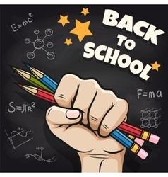 Back to school sketch on blackboard vector image