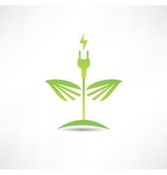 Eco green energy icon vector image