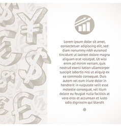 hand drawn currency signs vector image vector image