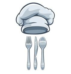 Kitchen utensils fork knife vector image
