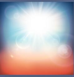 retro summer background vector image vector image