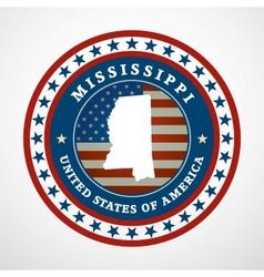 Vintage label Mississippi vector image vector image