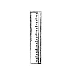 figure ruler school tool to study education vector image vector image