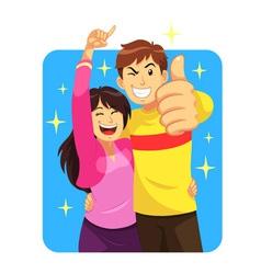 Happy Couple vector image vector image