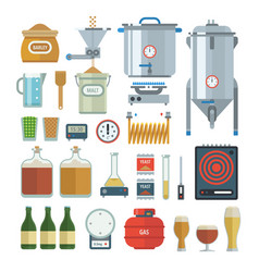 home brewing process items vector image vector image