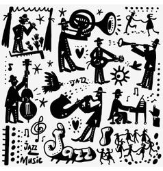 jazz band cartoons vector image
