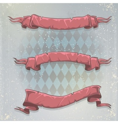 Set of greeting ribbons for your text vector image