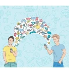 Social Network Activity vector image vector image