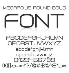 Trendy modern elegant bold font alphabet vector