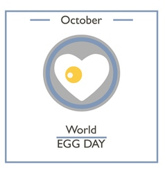 World Egg Day vector image vector image