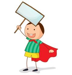banner kid vector image
