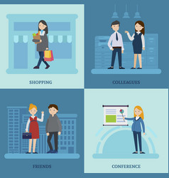 business mother square composition vector image