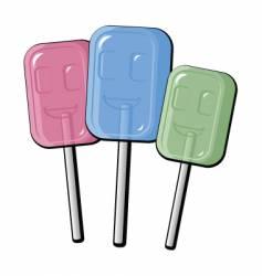 cartoon lollipops vector image vector image