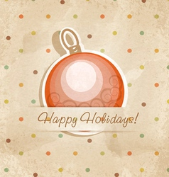 Retro Christmas ball vector image