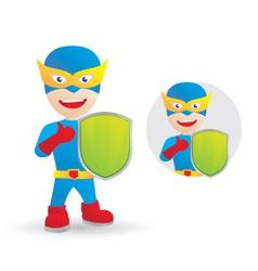 shield-hero vector image vector image