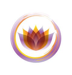 stylish zen lotus abstract symbol vector image