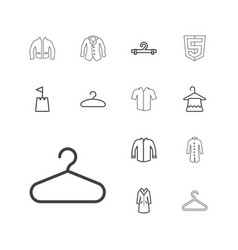 13 coat icons vector