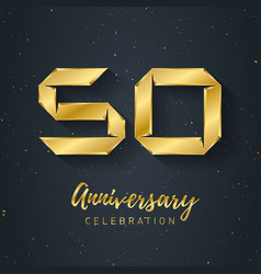 50 anniversary night party - fest poster abstract vector