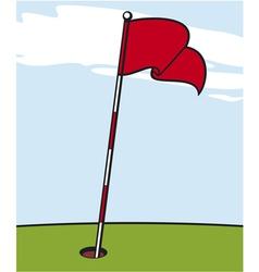 a golf flag vector image