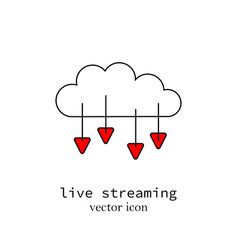 a live streaming computer cloud sign vector image