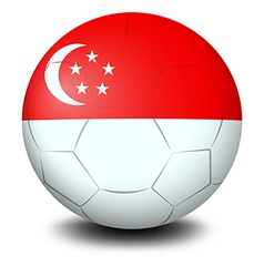 A soccer ball with the flag of Singapore vector