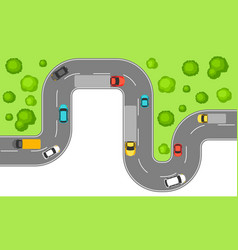 banner with top view road vector image