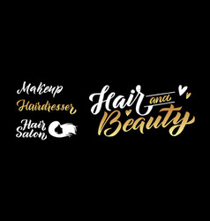 Beauty salon gold logo design template vector