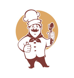 Best food happy cartoon chef for vector