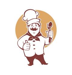 best food happy cartoon chef vector image