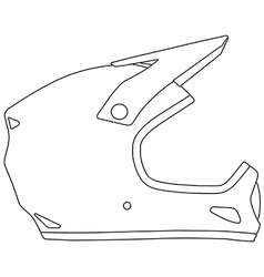 Bicycle helmet vector image