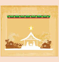 Birth of jesus in bethlehem vector