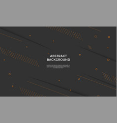 black background with dynamic shapes composition vector image