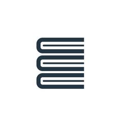 Books concept logotype template design business vector