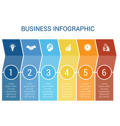 business infographic design for timeline six vector image