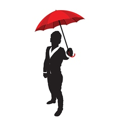 business man umbrella vector image