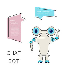 cartoon cute chat bot vector image