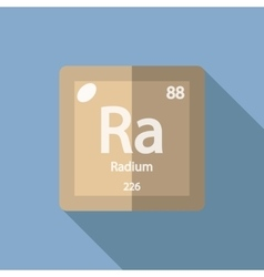 Chemical element Radium Flat vector image