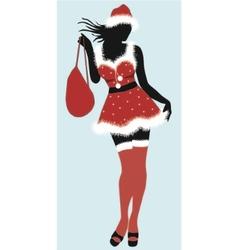 christmas girl- vector image