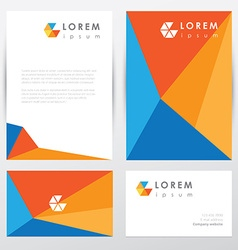Corporate identity document template vector image