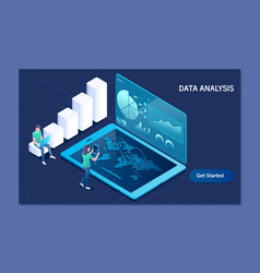 data analysis business technology internet and vector image
