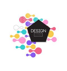 design logo template label for brand company vector image